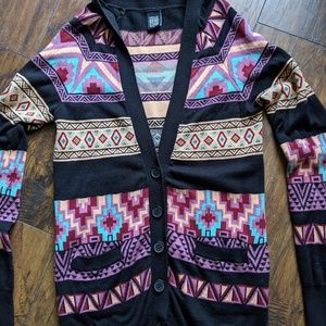 Nollie cardigan sweater Aztec Southwest sz small